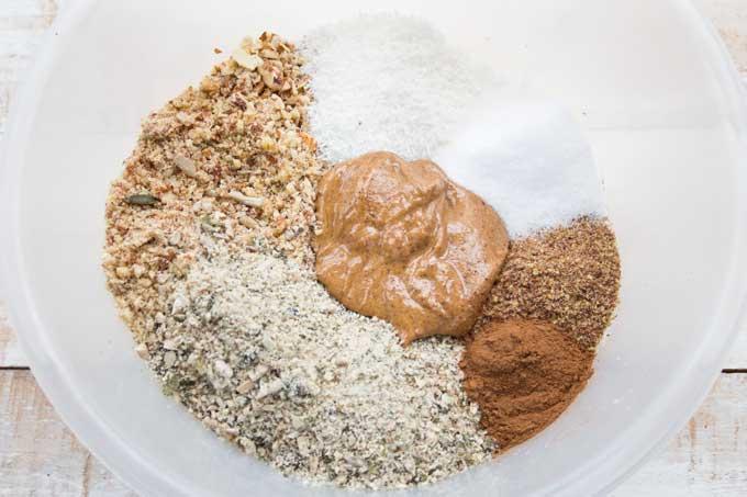 ingredients for grain free granola