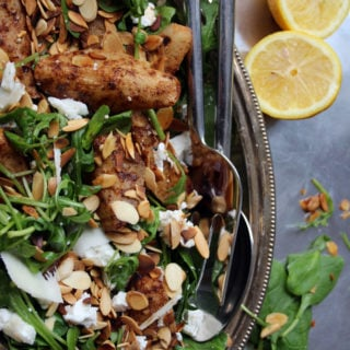 Spiced Pear and Goat Cheese Salad.
