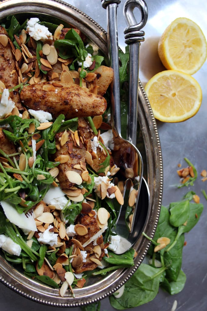 Spiced Pear and Goat Cheese Salad. A starter with a wow factor or a super-sophisticated light lunch. You are so worth it.