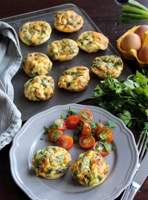 Chorizo Egg Muffinsare an easy to make, great on-the-go-breakfast you can make ahead. Gluten free, low carb. #lowcarb #eggmuffins #breakfast