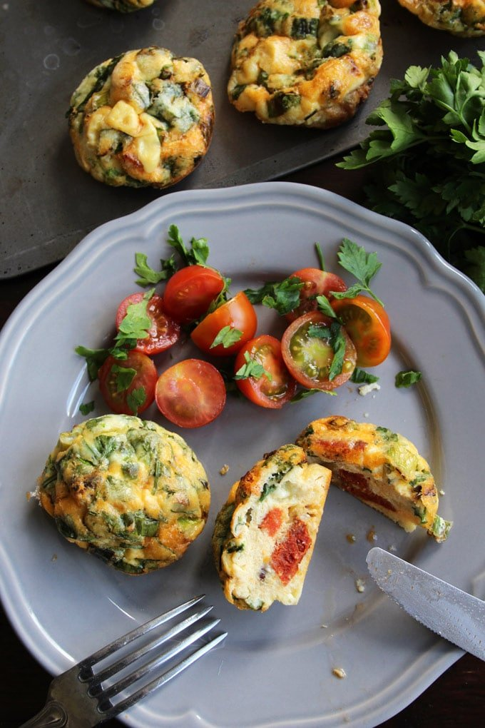 Chorizo Egg Muffins are an easy to make, great on the go breakfast you can make ahead. Tastes fab cold as well! Gluten free, low carb.