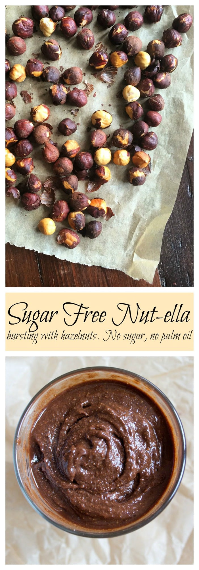 Nutty. Chocolatey. Irresistible. It is so easy to make homemade nut-ella! Check out this simple and delicious 3 step sugar free nutella recipe! #sugarfree #lowcarb