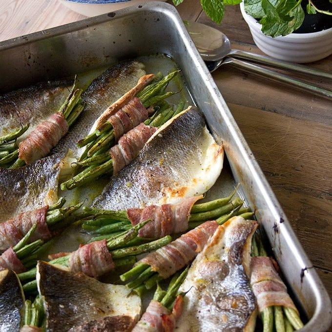 Roast Sea Bass Traybake