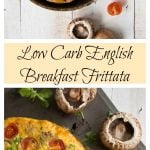 English Breakfast Frittata in a frying pan