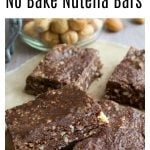 Keto nutella bars packed with nuts and seeds on parchment paper