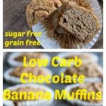 keto banana muffins on a plate