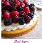 best ever almond flour cake with mascarpone frosting and berries