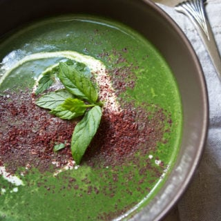 Cleansing, fresh and simple: This fragrant spinach mint soup gets an added kick from the tangy, lemony spice sumac.