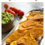 butternut squash chips on a tray