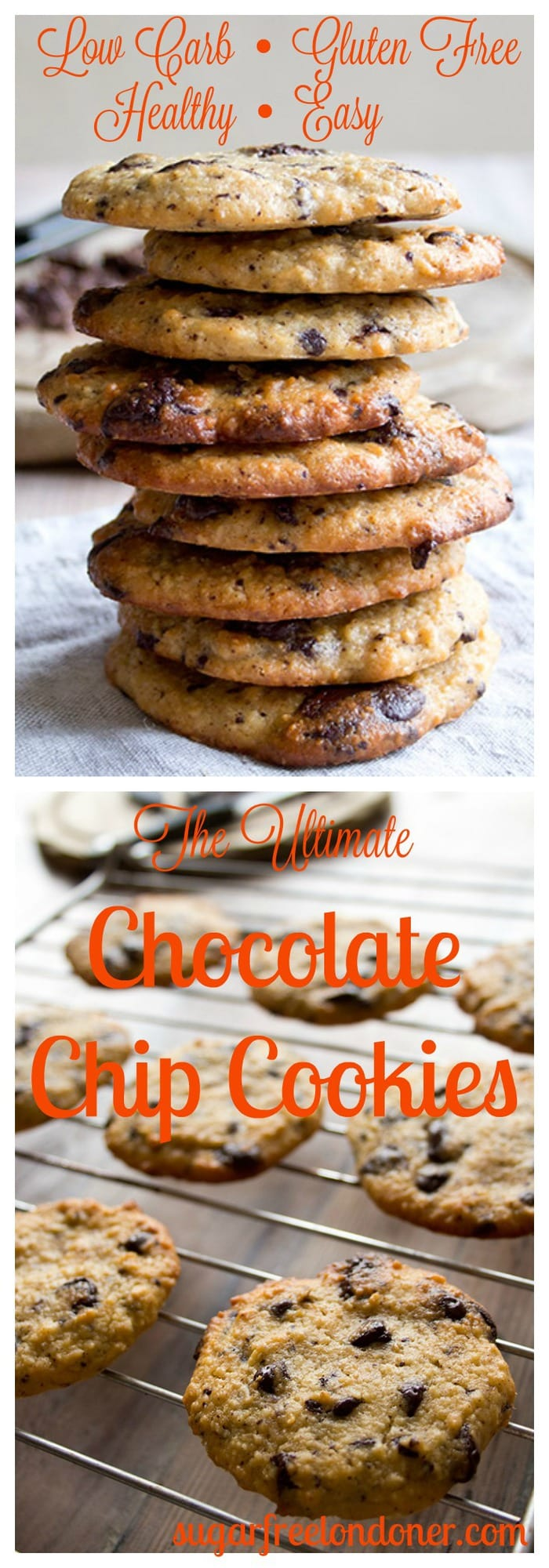 share: These healthy low carb chocolate chip cookies are the perfect ...