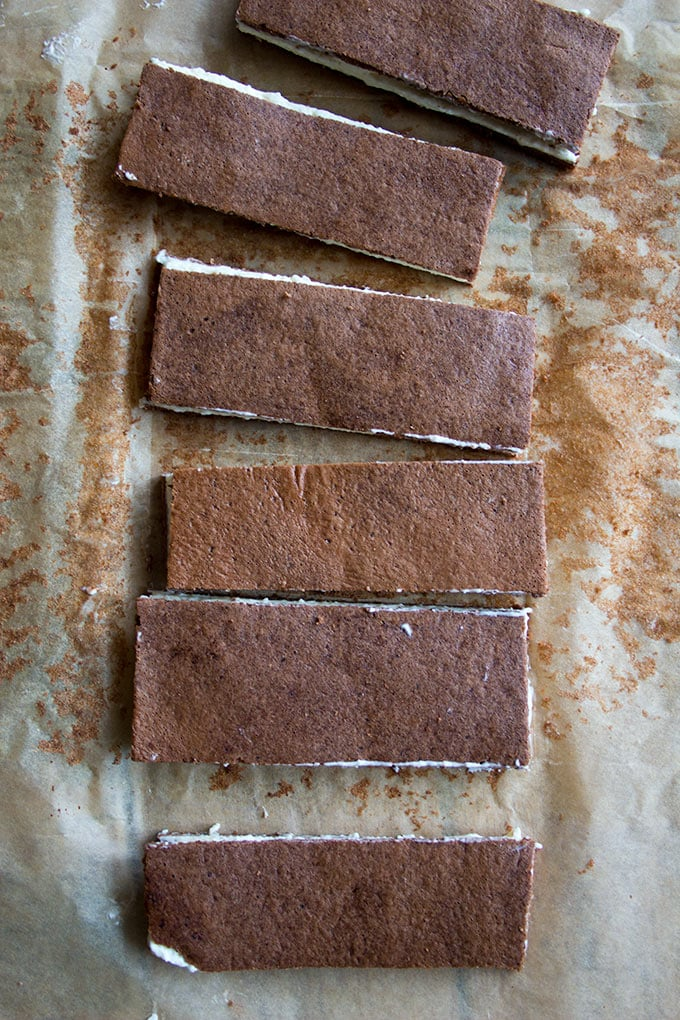 sugar free milk slices on parchment paper