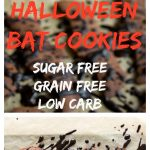 halloween bat cookies pin