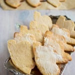 tray with sugar free cutout cookies
