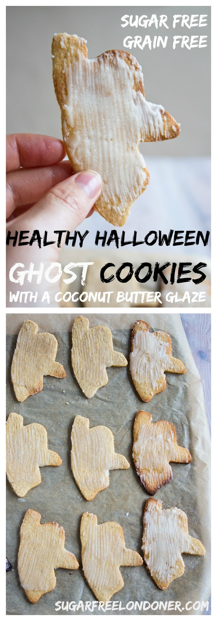 You'd like to have seconds? No problem. These crunchy sugar free cut out cookies with a coconut butter glaze are low carb, gluten free and sweetened with erythritol.