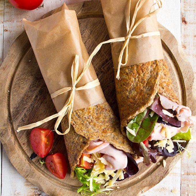 Flaxseed Keto Wraps (low carb, gluten free)