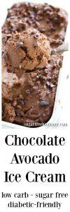 sugar free low carb chocolate avocado ice cream