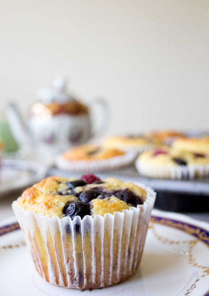 a low carb muffin with paper casing
