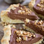 slices of healthy chocolate tart