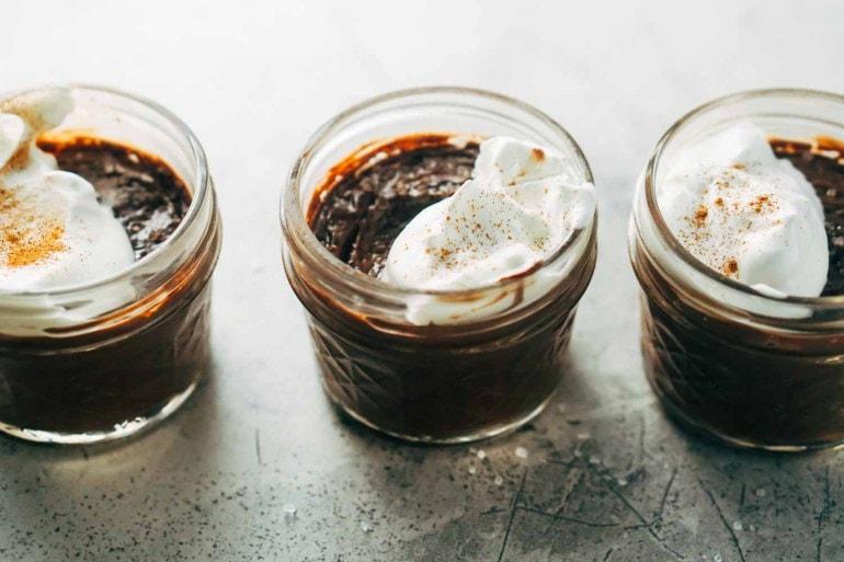 chocolate cream pots