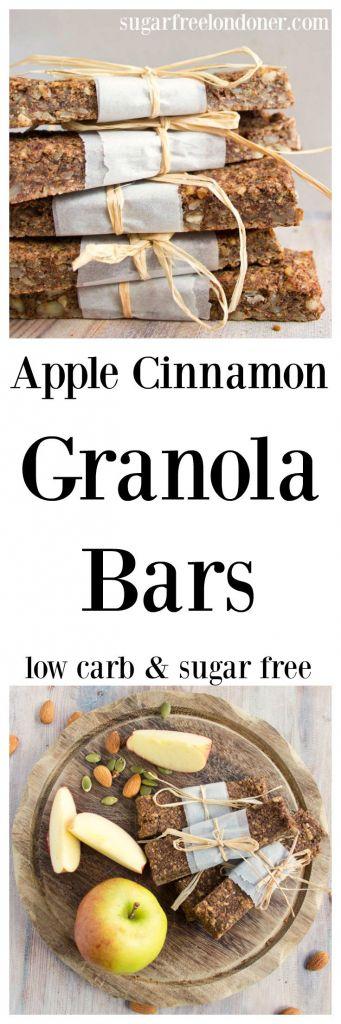 apple cinnamon low carb granola bars