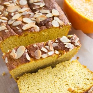 orange almond cake sliced