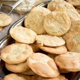 a tray with almond flour crackers