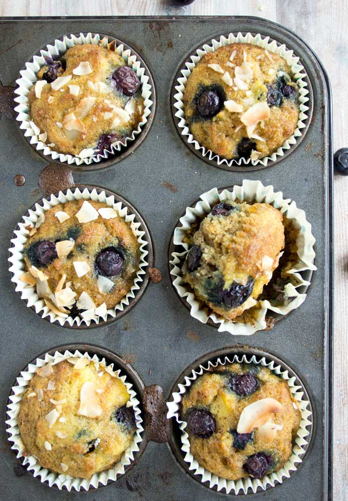 freshly baked muffins in paper cups