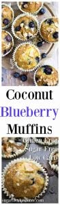 Blueberry coconut flour muffins
