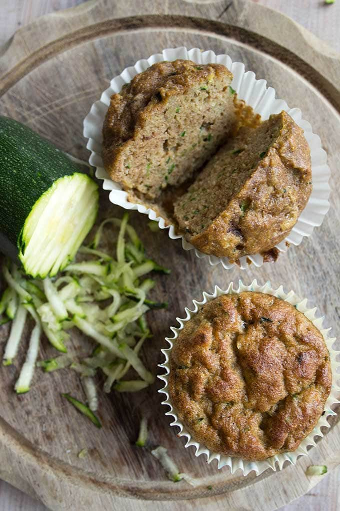 Low carb zucchini muffins are a tasty snack or grab & go breakfast. Grain free and sugar free.