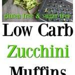 Low carb zucchini muffins pin