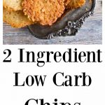 low carb chips on a tray