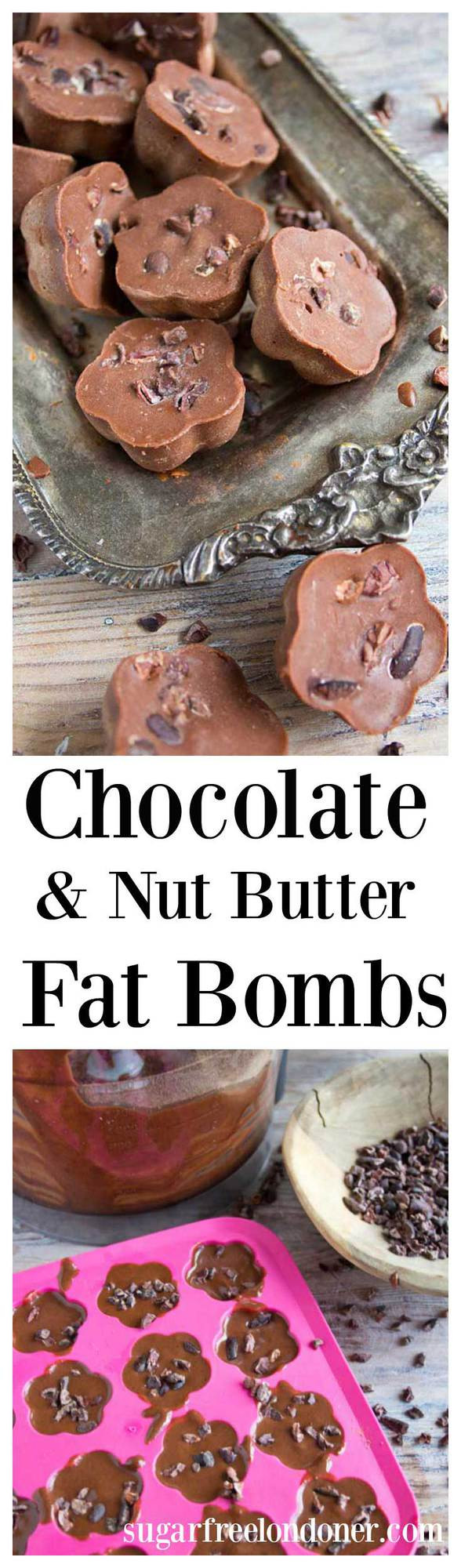 Cacao nut butter fat bombs are a great way to satisfy a sweet craving. They are packed with healthy fats and a delicious source of energy. #fatbombs #ketosnack