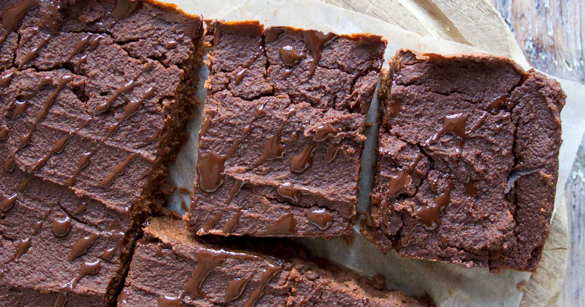 Pumpkin Brownies with chocolate drizzle
