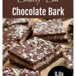 keto bounty bar chocolate bark cut into squares