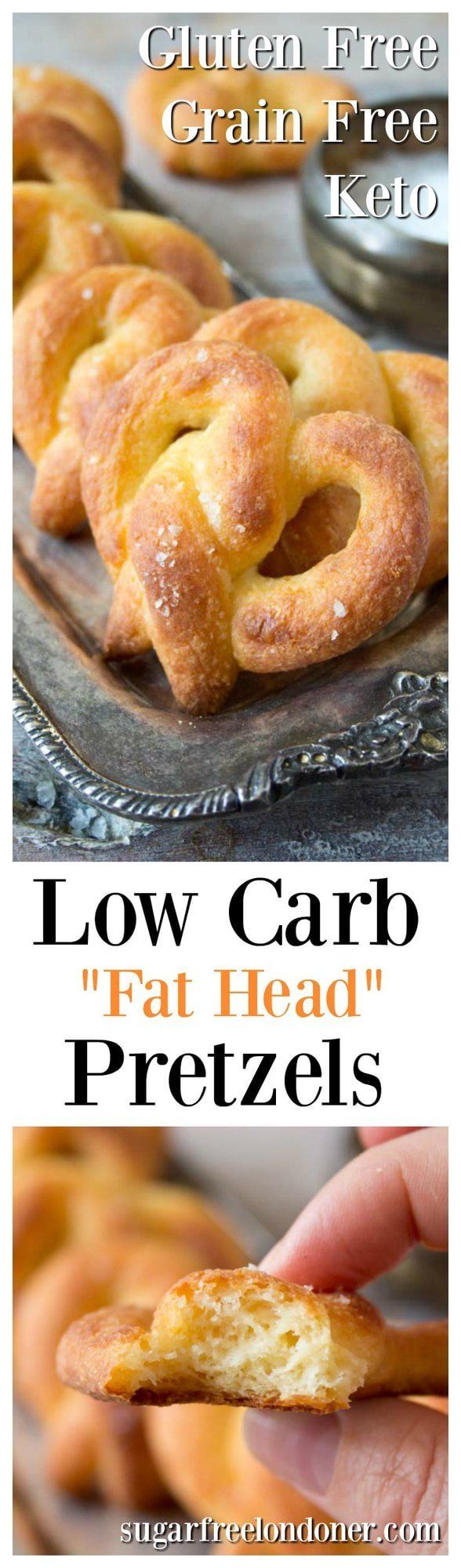 Soft and simply irresistible: low carb, grain free pretzels take snacking to the next level. Made with mozzarella (Fat Head) dough!
