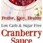 low carb sugar free cranberry sauce pin