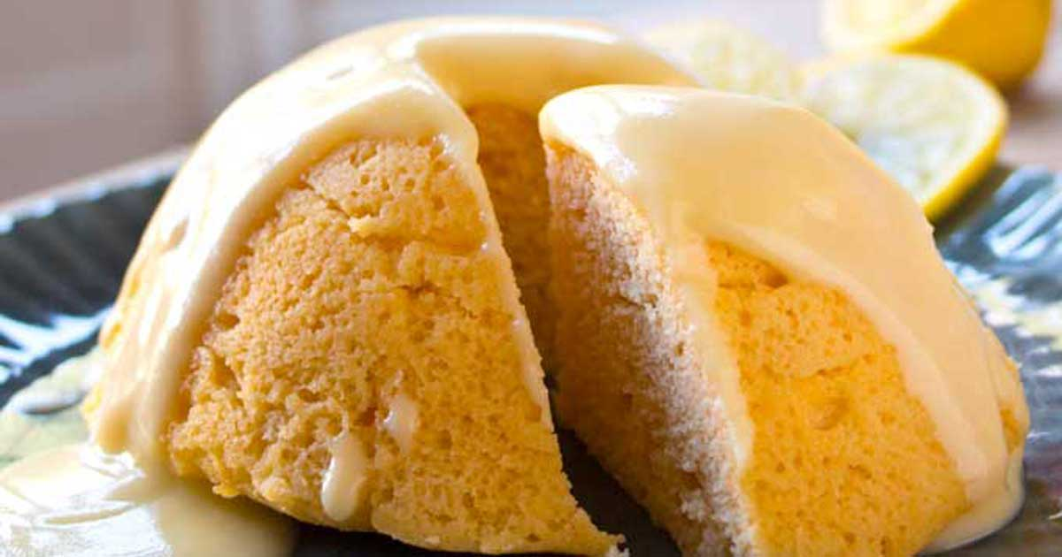 Sugar Free Lemon Mug Cake Low Carb Recipe