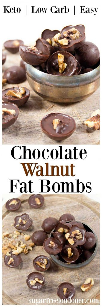 Chocolate walnut fat bombs are a delicious way to satisfy your sweet craving. This keto snack is perfect for a quick-fix energy boost.