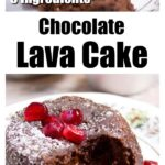 keto chocolate lava cake dusted with powdered sweetener