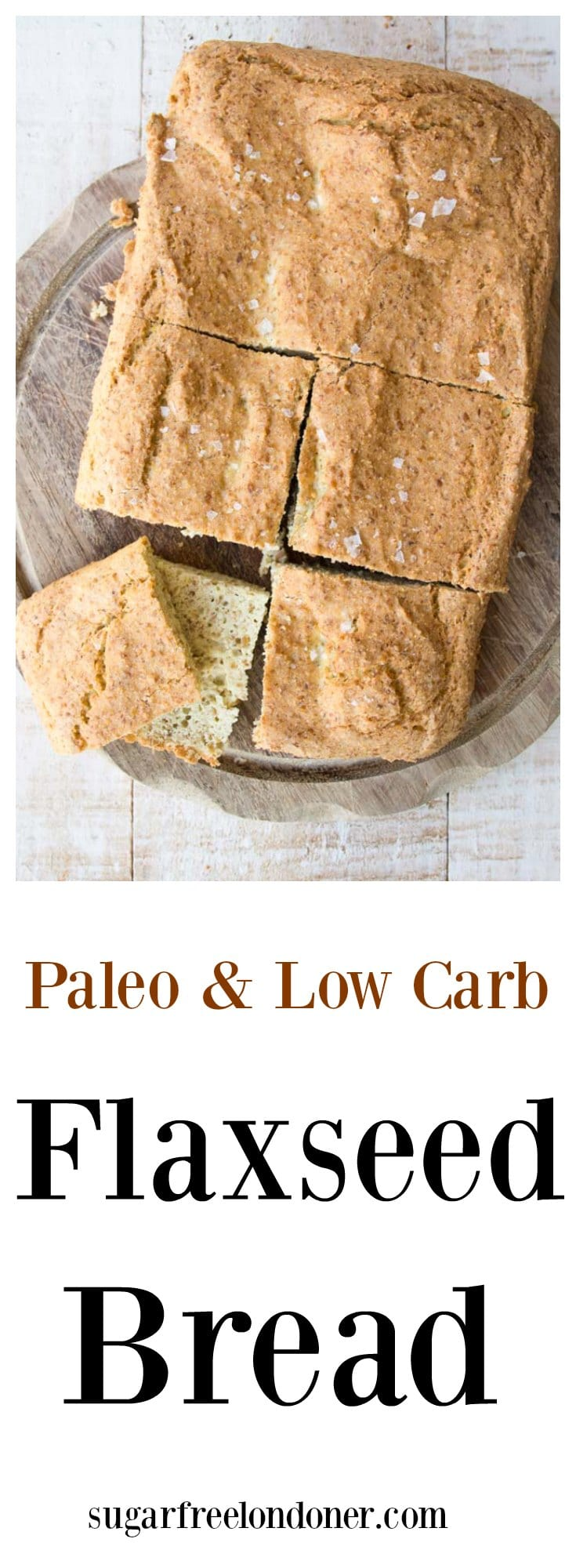 A soft, pillowy flaxseed bread that can be baked as a loaf, Focaccia-style or even as muffins. This bread uses coconut flour as a base and is delicious toasted. Great for low carb, gluten free and Paleo diets.