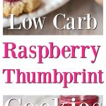 Raspberry thumbprint cookies on a plate