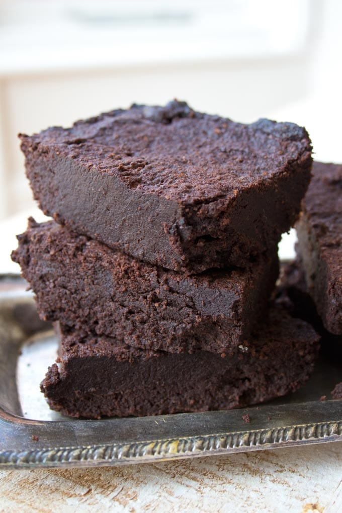Stack of 3 Keto low carb brownies