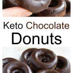 keto chocolate donuts with a sugar free chocolate glaze