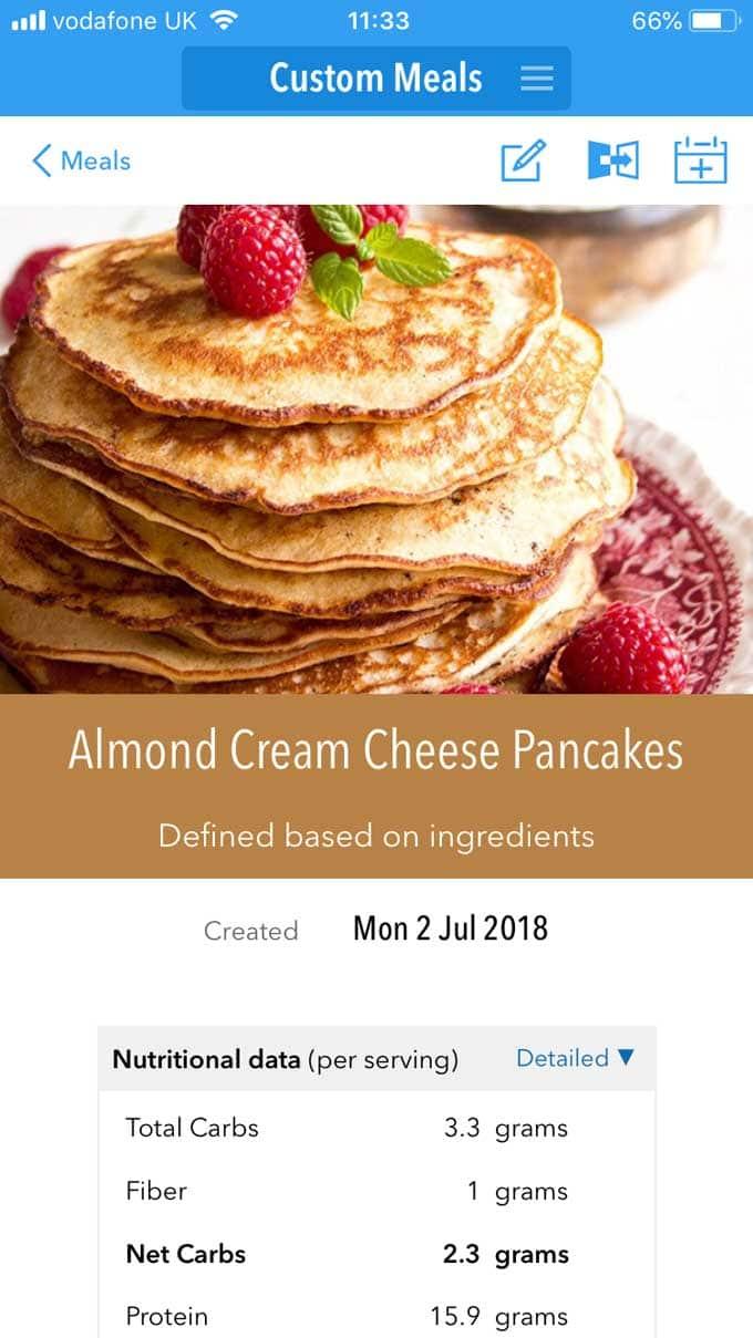 Keto Diet app Custom Meal
