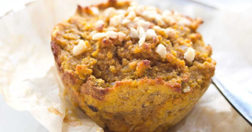 a pumpkin muffin
