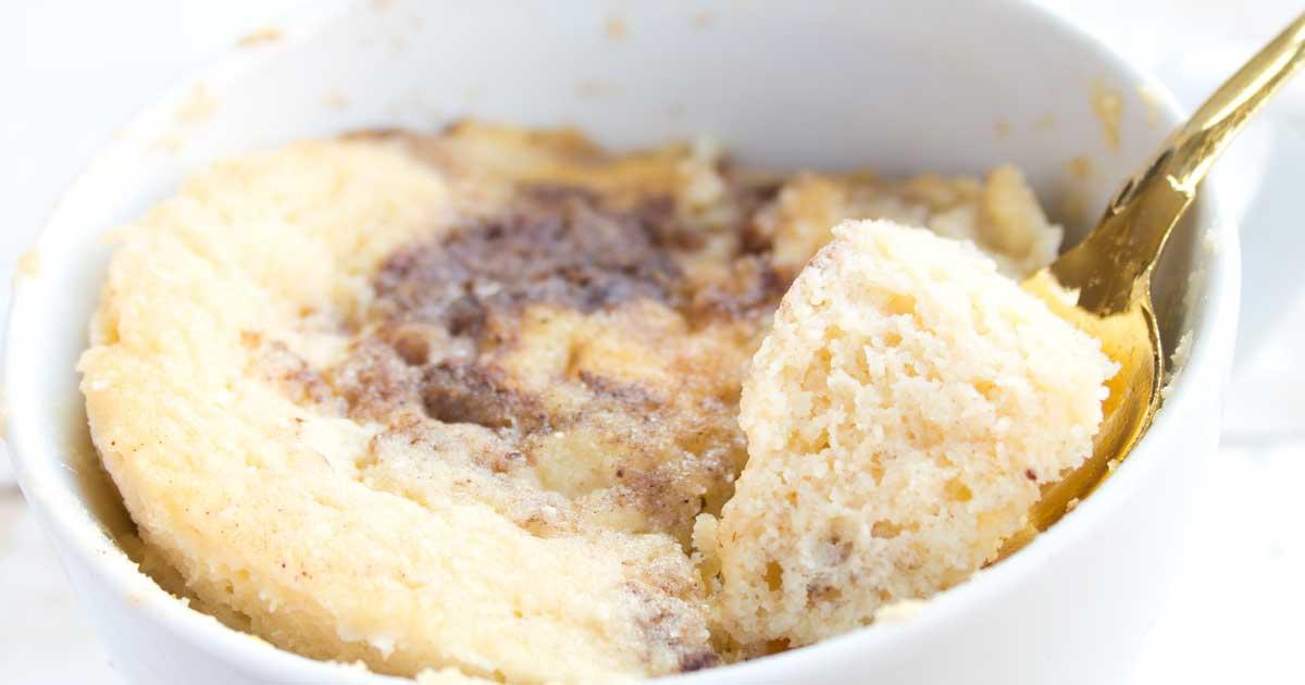 Cinnamon Swirl Coconut Flour Mug Cake Sugar Free Londoner