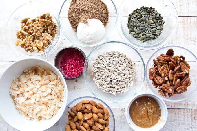 ingredients for low carb granola