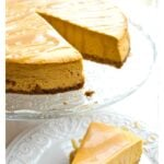 Low carb pumpkin cheesecake with salted caramel sauce