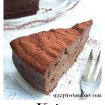 a slice of keto chocolate cake on a plate