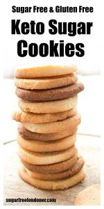 a stack of sugar free keto sugar cookies